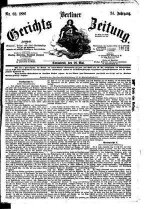 Berliner Gerichts-Zeitung vom 29.05.1886