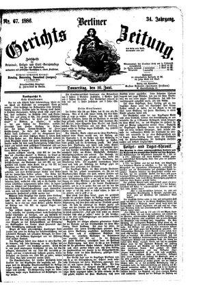 Berliner Gerichts-Zeitung vom 10.06.1886