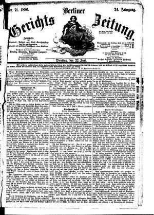 Berliner Gerichts-Zeitung vom 22.06.1886