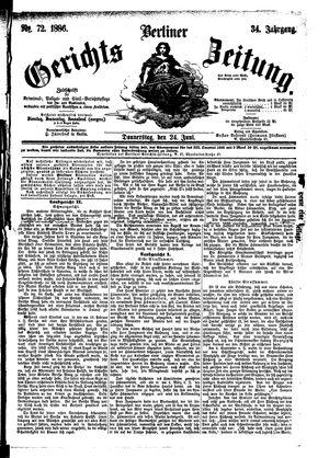 Berliner Gerichts-Zeitung vom 24.06.1886