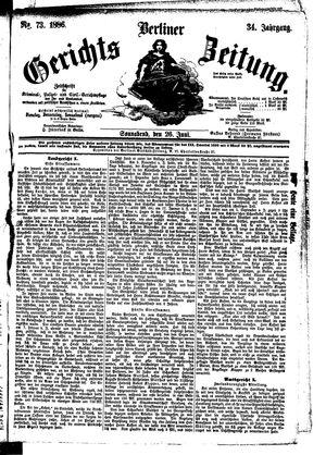 Berliner Gerichts-Zeitung vom 26.06.1886