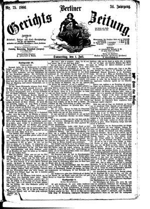 Berliner Gerichts-Zeitung vom 01.07.1886