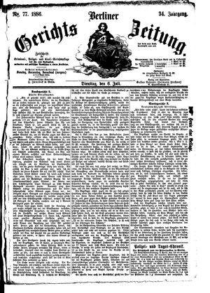 Berliner Gerichts-Zeitung vom 06.07.1886