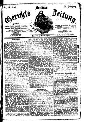 Berliner Gerichts-Zeitung vom 08.07.1886