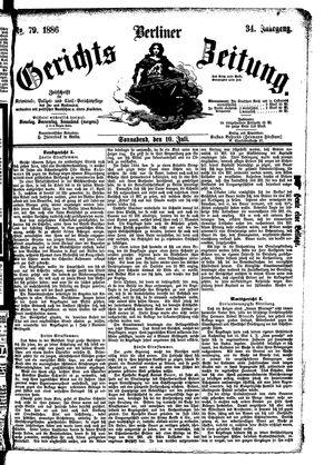 Berliner Gerichts-Zeitung vom 10.07.1886