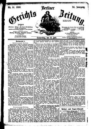 Berliner Gerichts-Zeitung vom 15.07.1886
