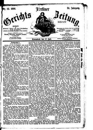 Berliner Gerichts-Zeitung vom 17.07.1886