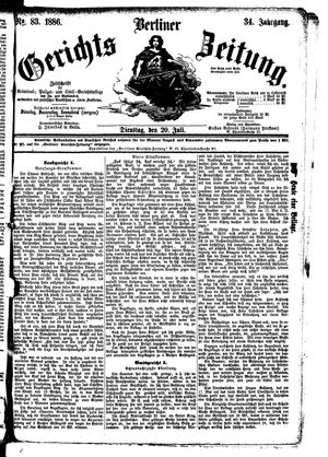 Berliner Gerichts-Zeitung vom 20.07.1886