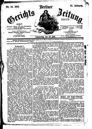 Berliner Gerichts-Zeitung vom 22.07.1886