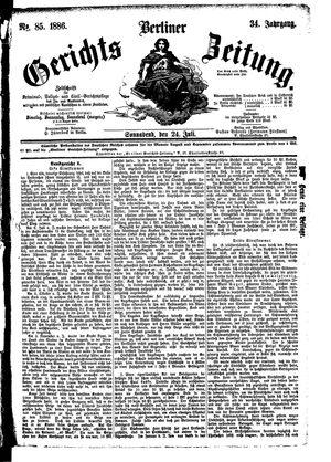 Berliner Gerichts-Zeitung vom 24.07.1886
