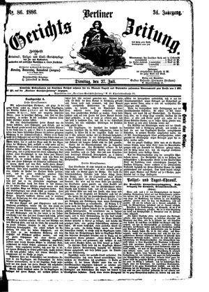 Berliner Gerichts-Zeitung vom 27.07.1886