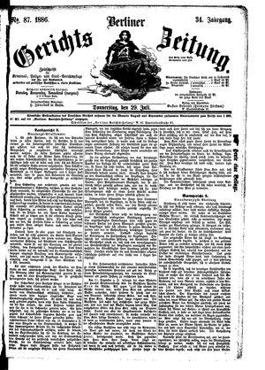 Berliner Gerichts-Zeitung vom 29.07.1886