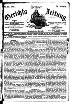 Berliner Gerichts-Zeitung vom 31.07.1886