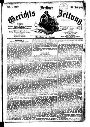Berliner Gerichts-Zeitung vom 01.01.1887