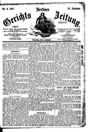 Berliner Gerichts-Zeitung vom 04.01.1887