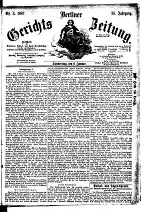 Berliner Gerichts-Zeitung vom 06.01.1887