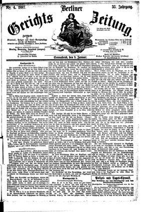 Berliner Gerichts-Zeitung on Jan 8, 1887