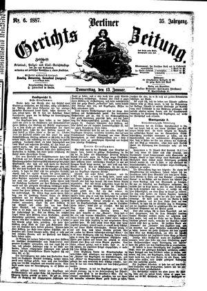 Berliner Gerichts-Zeitung vom 13.01.1887