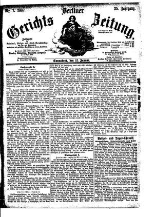 Berliner Gerichts-Zeitung vom 15.01.1887