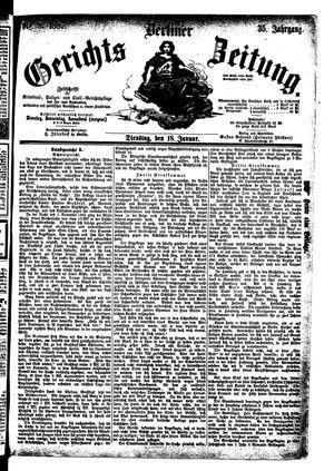 Berliner Gerichts-Zeitung vom 18.01.1887