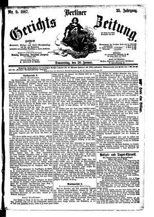 Berliner Gerichts-Zeitung vom 20.01.1887
