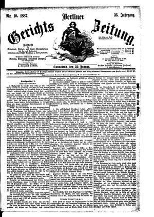 Berliner Gerichts-Zeitung vom 22.01.1887
