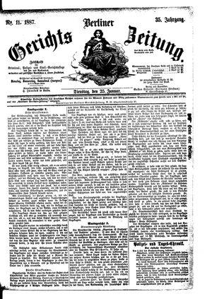 Berliner Gerichts-Zeitung vom 25.01.1887