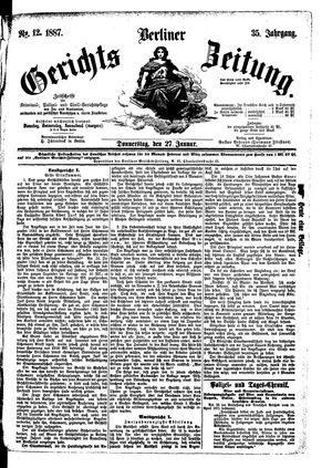 Berliner Gerichts-Zeitung vom 27.01.1887