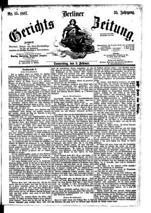 Berliner Gerichts-Zeitung vom 03.02.1887