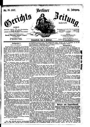 Berliner Gerichts-Zeitung vom 05.02.1887