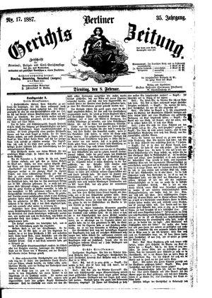 Berliner Gerichts-Zeitung vom 08.02.1887