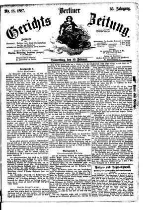 Berliner Gerichts-Zeitung vom 10.02.1887