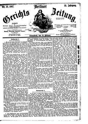 Berliner Gerichts-Zeitung vom 12.02.1887