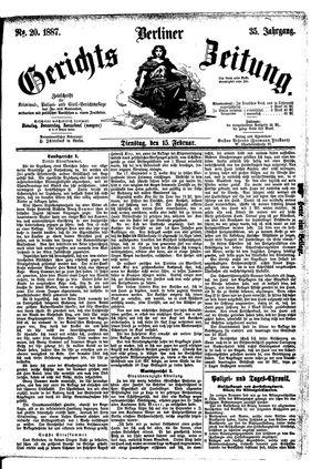 Berliner Gerichts-Zeitung on Feb 15, 1887