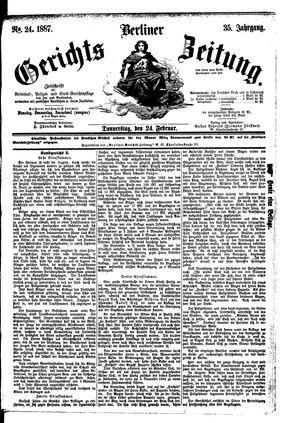 Berliner Gerichts-Zeitung on Feb 24, 1887