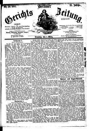 Berliner Gerichts-Zeitung vom 01.03.1887