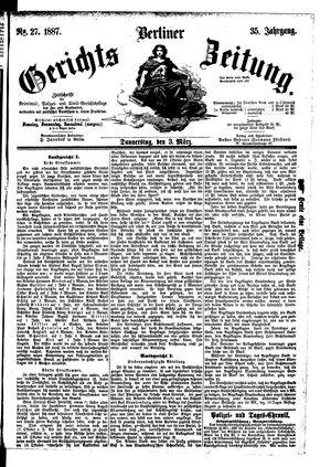 Berliner Gerichts-Zeitung vom 03.03.1887