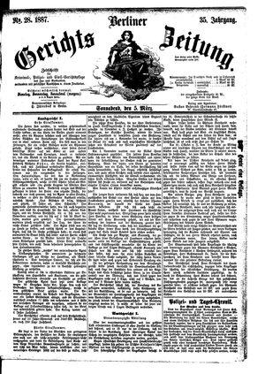 Berliner Gerichts-Zeitung vom 05.03.1887