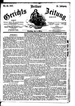 Berliner Gerichts-Zeitung vom 08.03.1887