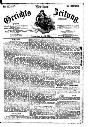 Berliner Gerichts-Zeitung vom 10.03.1887