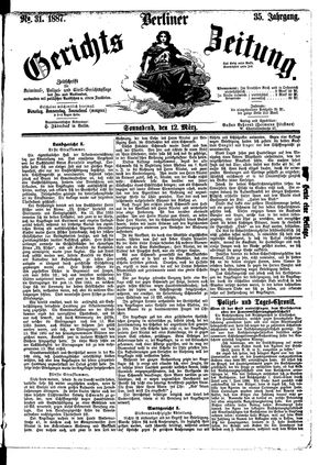 Berliner Gerichts-Zeitung vom 12.03.1887