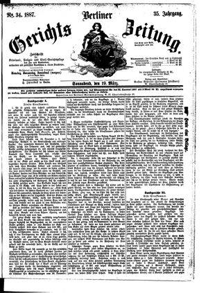 Berliner Gerichts-Zeitung vom 19.03.1887