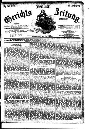 Berliner Gerichts-Zeitung vom 24.03.1887