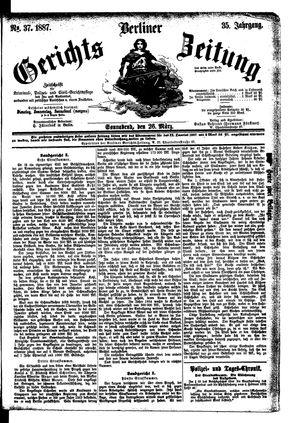 Berliner Gerichts-Zeitung vom 26.03.1887