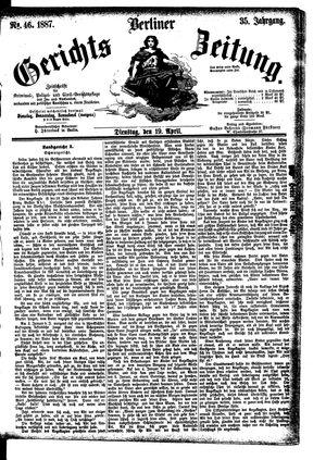 Berliner Gerichts-Zeitung vom 19.04.1887