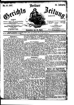 Berliner Gerichts-Zeitung vom 23.04.1887