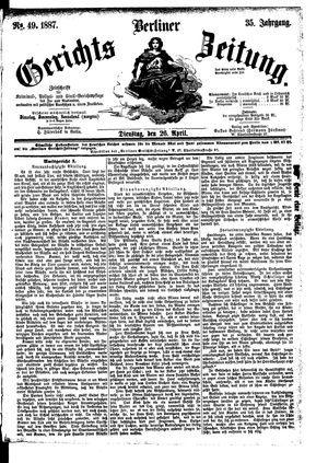 Berliner Gerichts-Zeitung vom 26.04.1887