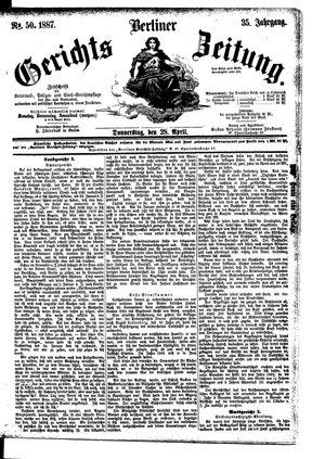 Berliner Gerichts-Zeitung vom 28.04.1887