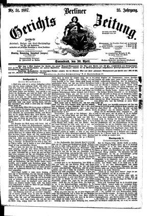 Berliner Gerichts-Zeitung vom 30.04.1887