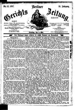Berliner Gerichts-Zeitung on May 3, 1887